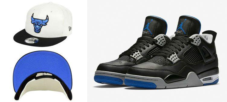"Air Jordan 4 ""Alternate Motorsport"" x New Era Bulls Motorsports IV Hook Snapback"