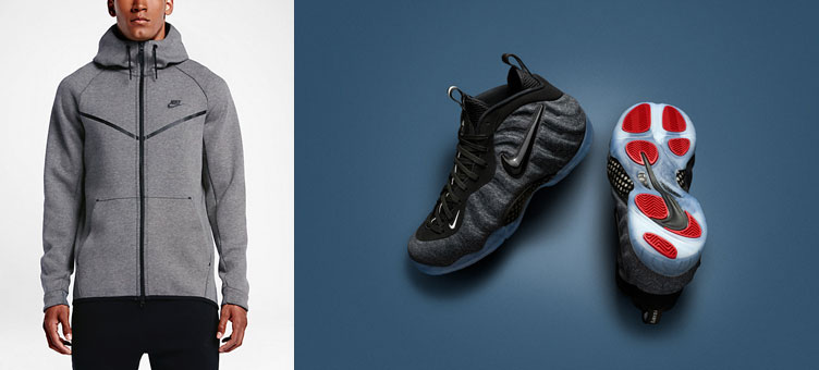 new concept 1d6e6 8b2b3 nike-air-foamposite-fleece-clothing