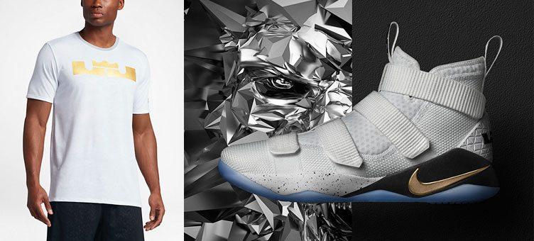 "7b063deeb8f Nike LeBron Soldier 11 ""Court General"" x Nike Dry LeBron T-Shirt"
