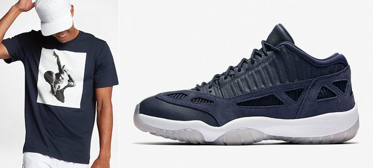 "Jordan Sportswear Shirts to Match the Air Jordan 11 Low IE ""Obsidian"""