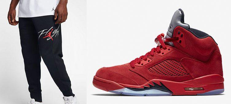 air-jordan-5-red-suede-pants