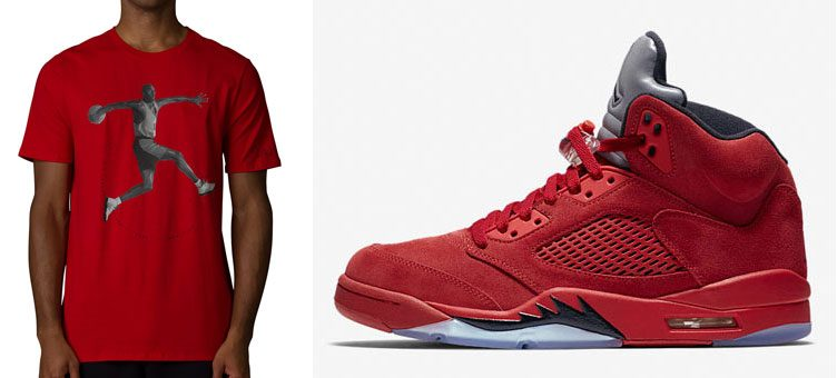 air-jordan-5-red-suede-shirt