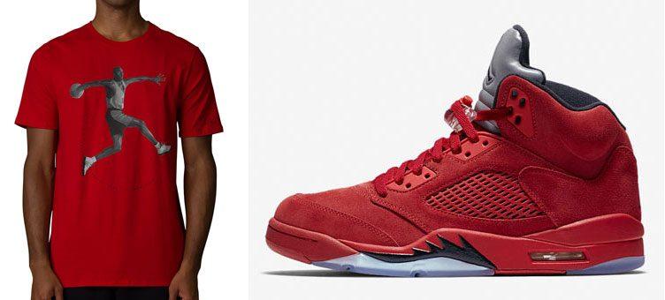 air-jordan-5-red-suede-shirt