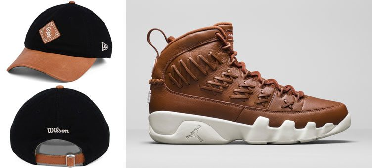 "Air Jordan 9 ""Baseball Glove"" x New Era MLB x Wilson 9TWENTY Strapback Caps"