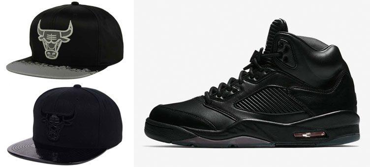 jordan-5-premium-chicago-bulls-hats