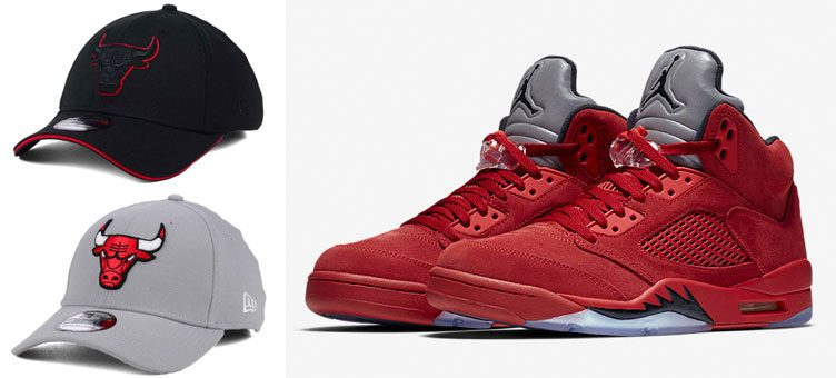 "5 New Chicago Bulls New Era Dad Caps to Match the Air Jordan 5 ""Red Suede"""
