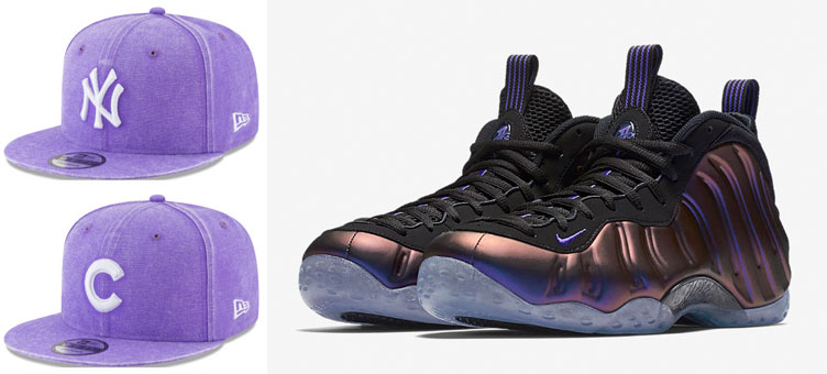 """b9c30ad7a27 nike-foamposite-eggplant-mlb-snapback-hats. Copping a pair of the Nike Air  Foamposite One """"Eggplant"""" sneakers ..."""