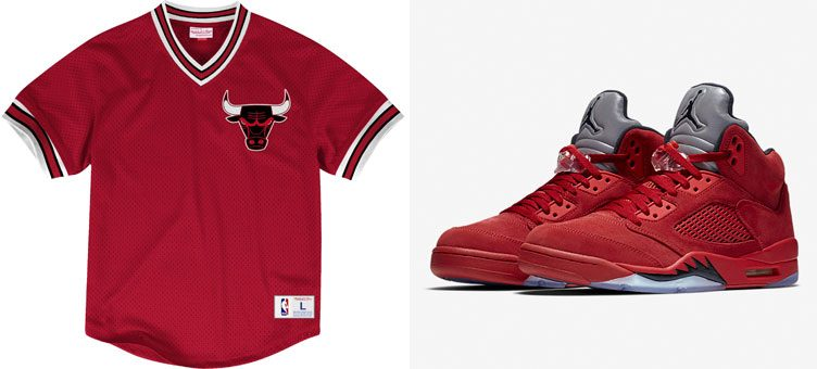 red-suede-air-jordan-5-bulls-jersey-shirt