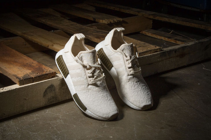 """0ab01ff41f55d adidas NMD R1 """"Chalk   Olive"""" (Champs Exclusive) x adidas Originals Graphic  Tee"""