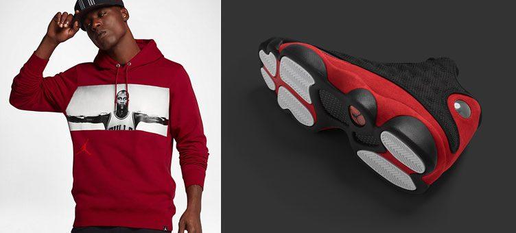 "Air Jordan 13 ""Bred"" x Jordan Sportswear Legend Flight Lite Pullover Hoodie"