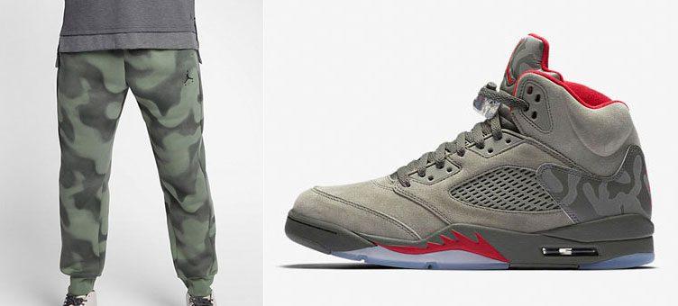 "best authentic 683bb f43dd Air Jordan 5 ""Camo"" x Jordan P51 Flight Fleece Pants"
