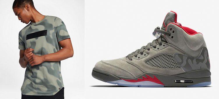 "Air Jordan 5 ""Camo"" x Air Jordan 5 Camo Tee"