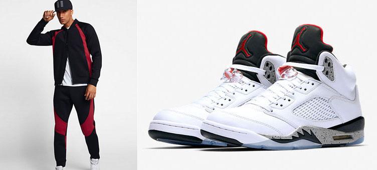 008c7d08884 Air Jordan 5 White Cement Jacket and Pants | SneakerFits.com