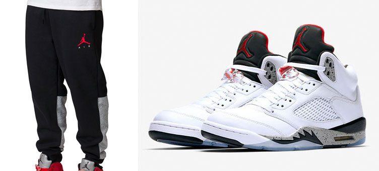 air-jordan-5-white-cement-jogger-pants