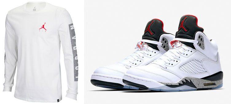 air-jordan-5-white-cement-long-sleeve-shirt