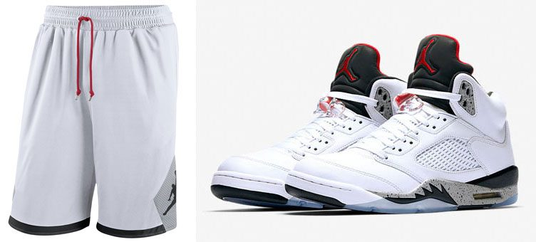 "Air Jordan 5 ""White Cement"" x Jordan Retro 5 BSK Shorts"