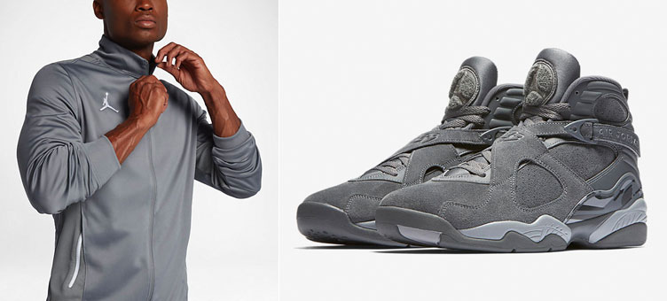 230ebf79cc00 Air Jordan 8 Cool Grey Jacket Match