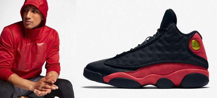 """Air Jordan 13 """"Bred"""" x Jordan Rise 23 Pullover Basketball Hoodie"""