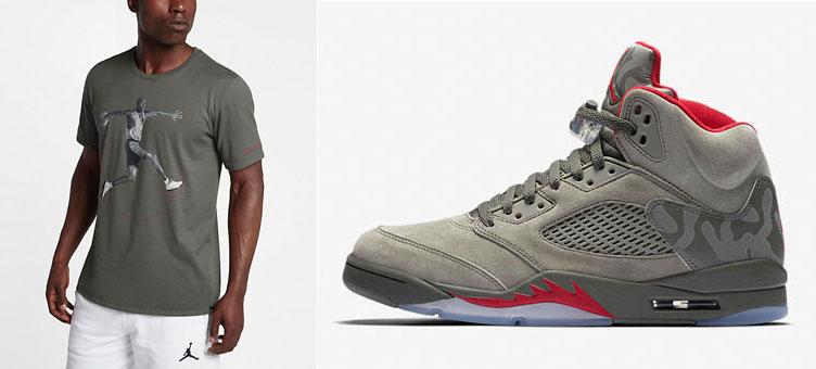fc0f3a9de384 Jordan 5 Camo Sneaker Shirt