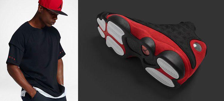 "Air Jordan 13 ""Bred"" x Jordan Sportswear AJ 13 Double Layer T-Shirt"