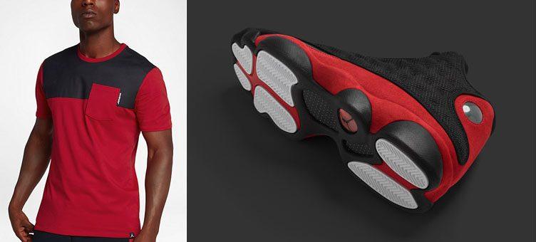 "Air Jordan 13 ""Bred"" x Jordan Sportswear AJ 13 Pocket T-Shirt"