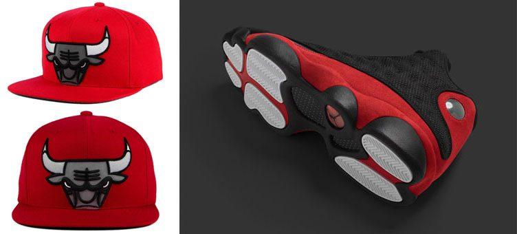 """Air Jordan 13 """"Bred"""" x Chicago Bulls Mitchell & Ness XL Reflective Cap"""