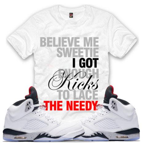 230bdf53d189a6 Jordan 5 Cement White Sneaker Match Shirts