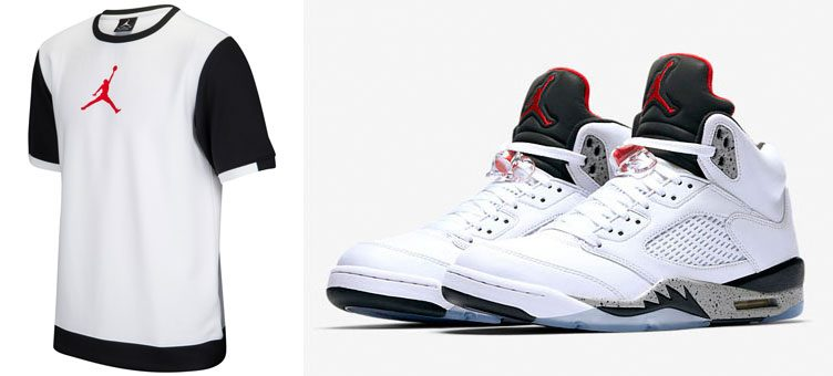 "Air Jordan 5 ""White Cement"" x Jordan Retro 5 BSK Perf Top"