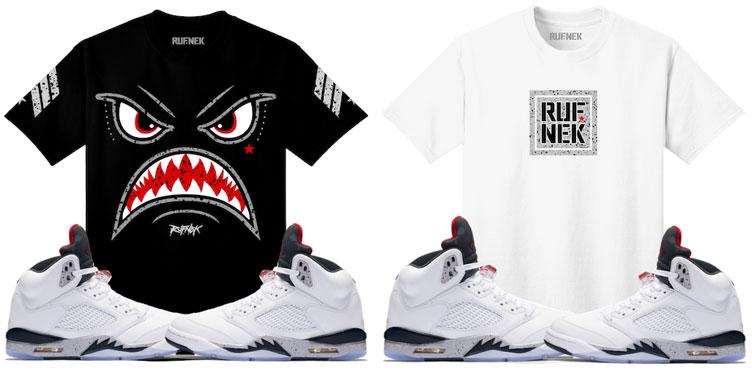 40ed12d0dfc910 jordan-5s-white-cement-sneaker-tees-shirt-match-