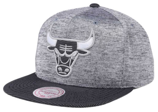 Jordan 8 Cool Grey Chicago Bulls Hats by Mitchell and Ness ... 154d99f4058