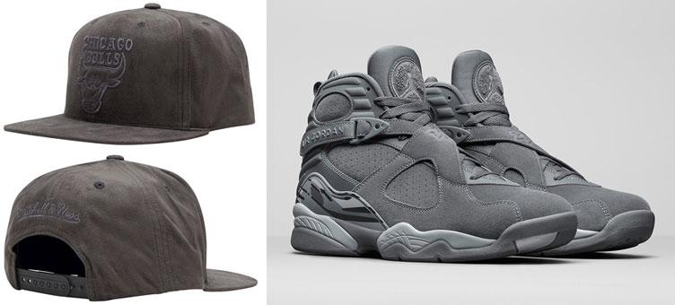 jordan-8-cool-grey-bulls-snapback-hat