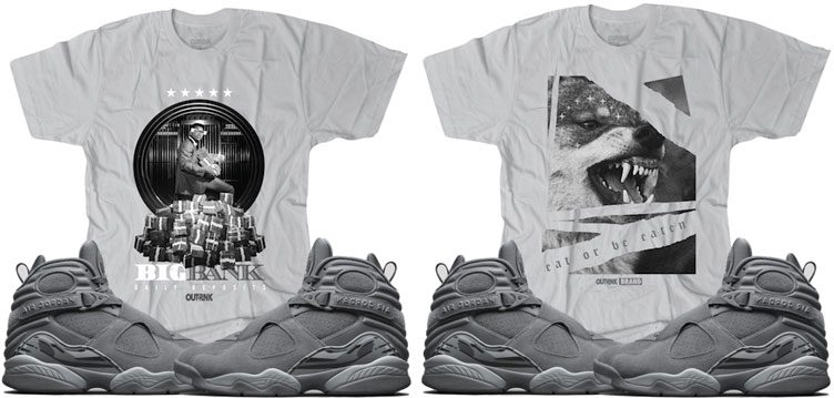 "94f64453f0fc82 OutRank Sneaker Shirts to Match the Air Jordan 8 ""Cool Grey"""
