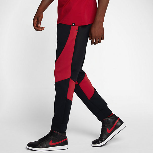 jordan-flight-tech-fleece-pants-black-red-1