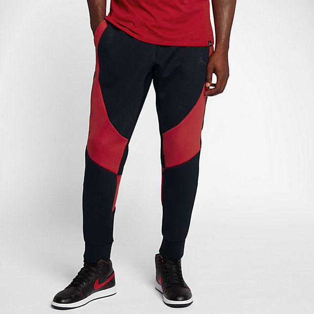 jordan-flight-tech-fleece-pants-black-red-3-1