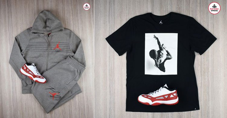 Air Jordan 11 Low Fire Gym Red Apparel Sneakerfits Com