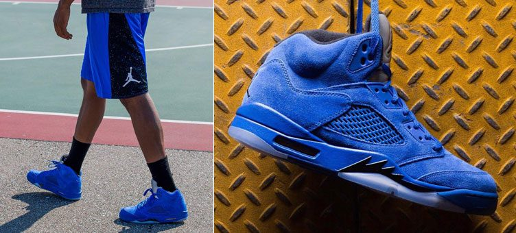 "Air Jordan 5 ""Blue Suede"" x Jordan Retro 5 BSK Basketball Shorts"