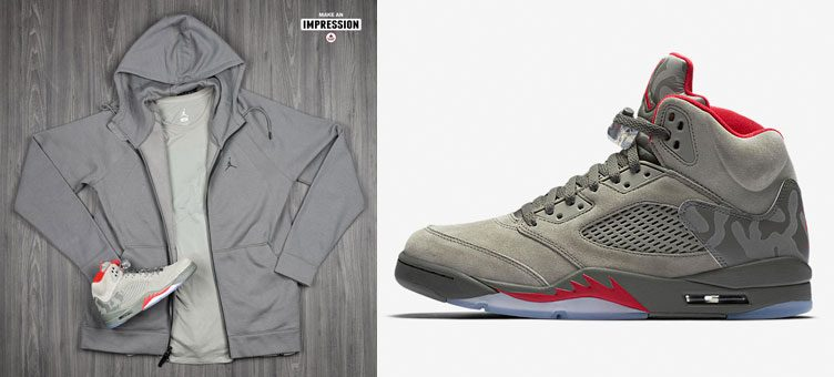 "Air Jordan 5 ""Camo"" Apparel Hook-Ups Available at Footlocker"