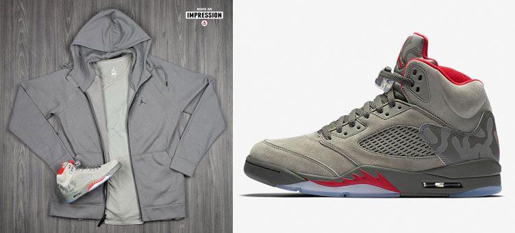 """buy popular e862f 3ecd2 Air Jordan 5 """"Camo"""" Apparel Hook-Ups Available at Footlocker"""