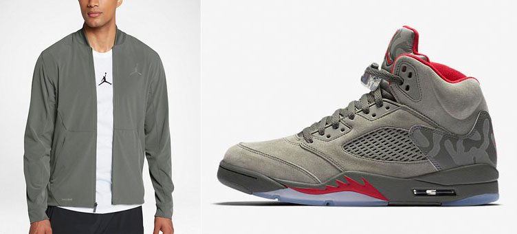"Air Jordan 5 ""Camo"" x Jordan Ultimate Flight Jacket"