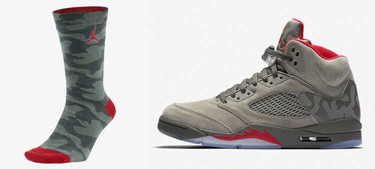 "Air Jordan 5 ""Camo"" x Jordan P51 Socks"