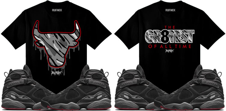 on sale 873f4 3b3b1 Jordan 8 Cement Bred Sneaker Match Shirts | SneakerFits.com