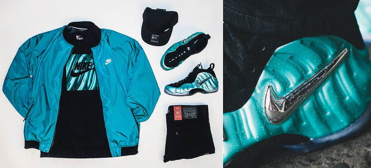 fbf1f3bac5974 Nike Foamposite Island Green Clothing Outfit