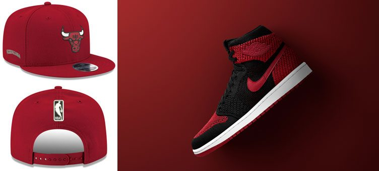 "Air Jordan 1 High Flyknit ""Banned"" x Chicago Bulls New Era NBA Basic Link 9FIFTY Snapback Cap"