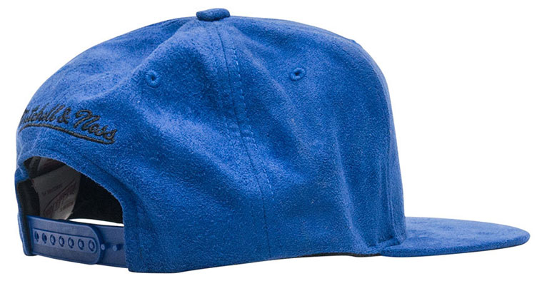 newest 875b9 a5804 jordan-5-blue-suede-bulls-snapback-cap-2