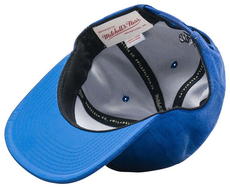 85d1959c4f8 jordan-5-blue-suede-bulls-snapback-cap-3. Mitchell   Ness Chicago Bulls  Retro ...