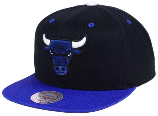 d7d5815184f jordan-5-blue-suede-bulls-snapback-cap. Chicago Bulls Mitchell   Ness ...