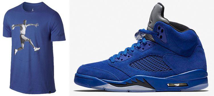 jordan-5-blue-suede-t-shirt