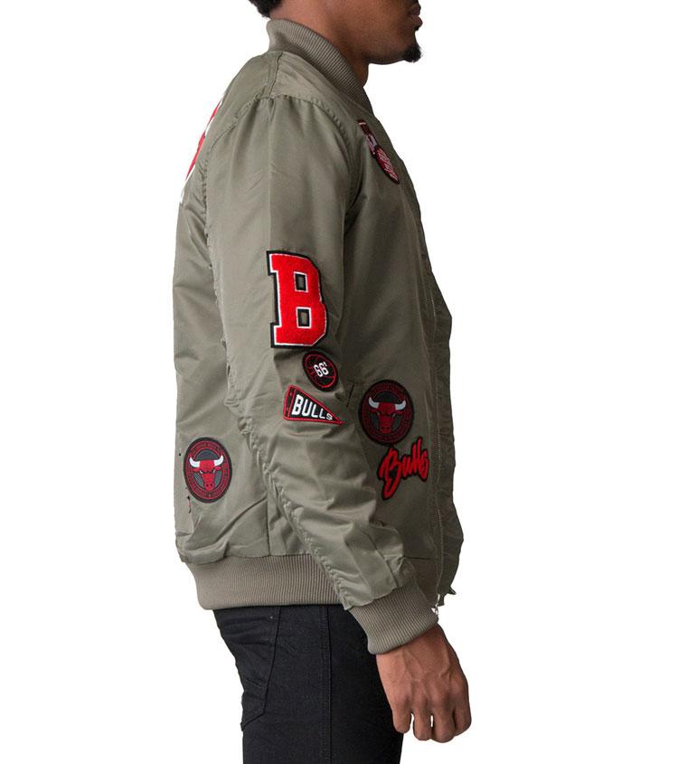 "44608963cb27 Air Jordan 5 ""Camo"" x UNK Chicago Bulls Nylon Patch Jacket"