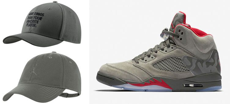 "Jordan Strapback Caps to Match the Air Jordan 5 ""Camo"""