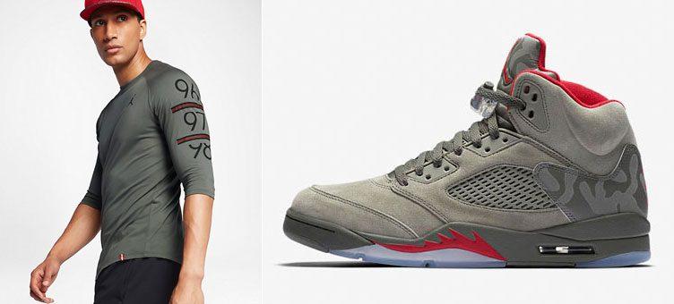 "51d61c682f3 Air Jordan 5 ""Camo"" x Jordan 6 Times Raglan 3/4 Sleeve Shirt"
